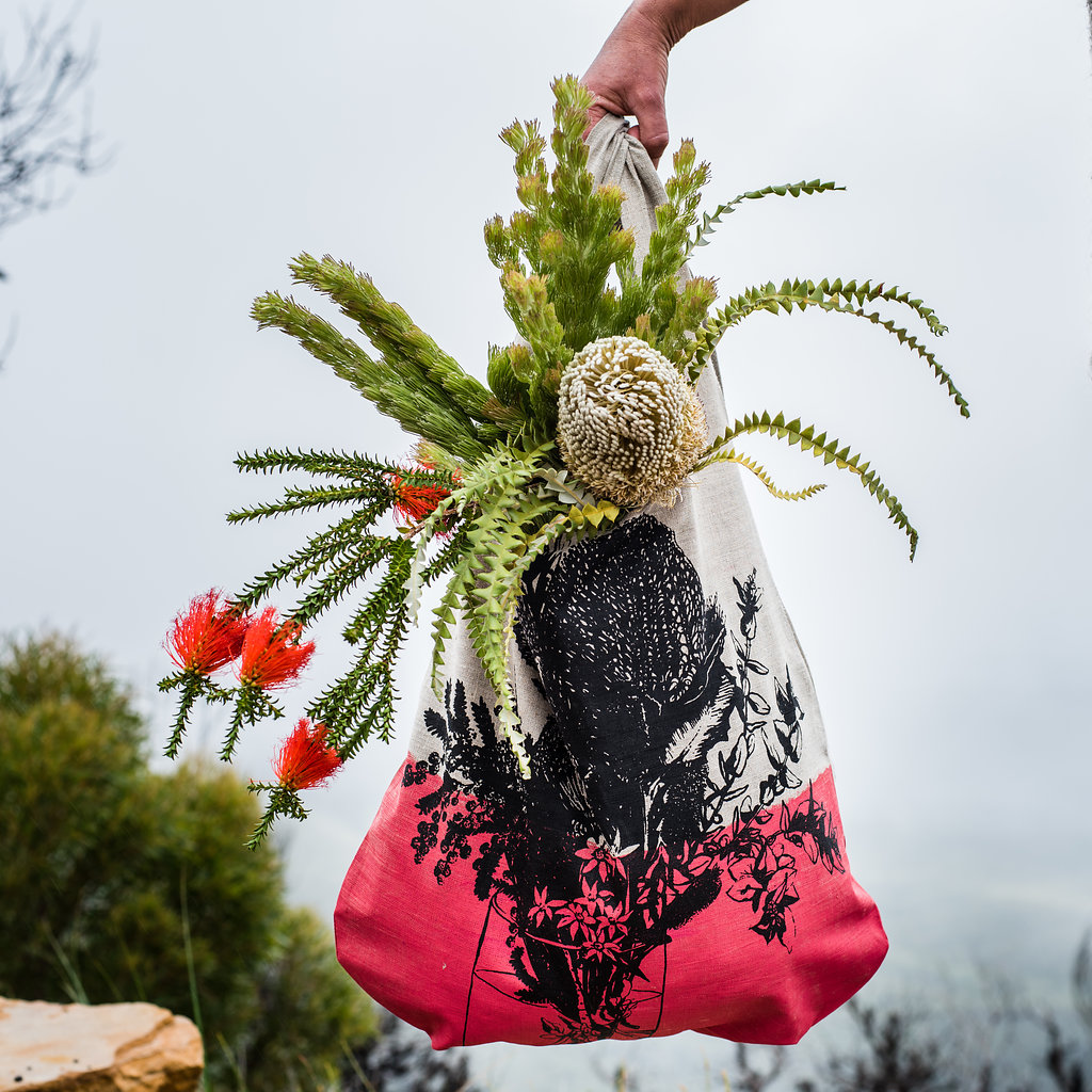 Vase of Wildflower's Farmers Market Bag